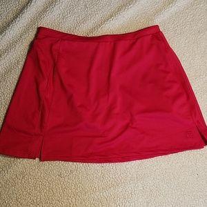 FILA Red Tennis Skort Sz Large